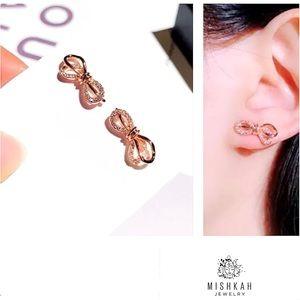 Just In🎀 New Bownot Stud Rhinestone Earrings